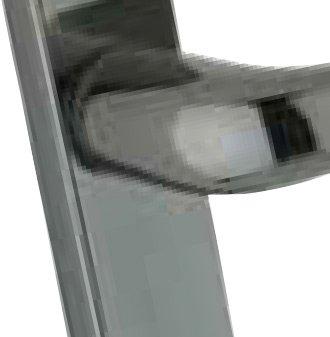 Mila Pro-secure - Smokey Chrome Door Handle
