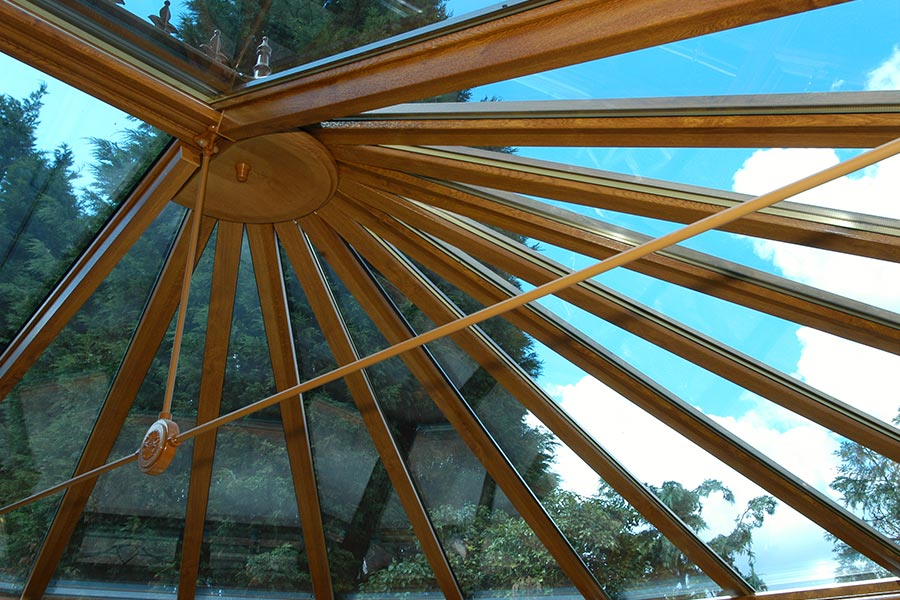 We use a specialised conservatory roof fabricator to construct our conservatory roofs